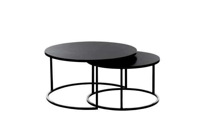 Set ronde salontafels KUBUS -