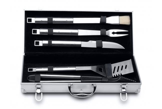6-delige barbecueset in koffer