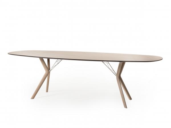 Ovale Tafel Hout : Ovale tafel eclipse eiken mozaïek hout deba meubelen