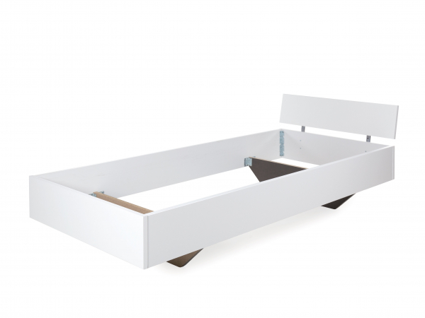 Witte Boxspring Met Hoofdbord.Bed Incl Hoofdbord Phoenix Alpinewit Wit Deba Meubelen