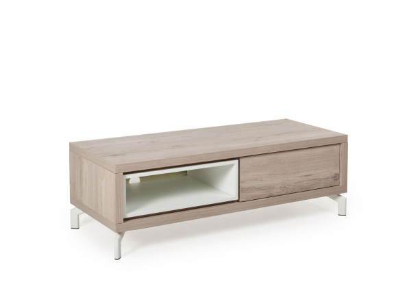 Tv Kast Kwadro Millenium Oak Light Greywit Hout Deba
