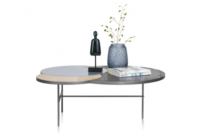 Salontafel GLASGOW - Skyblue/n