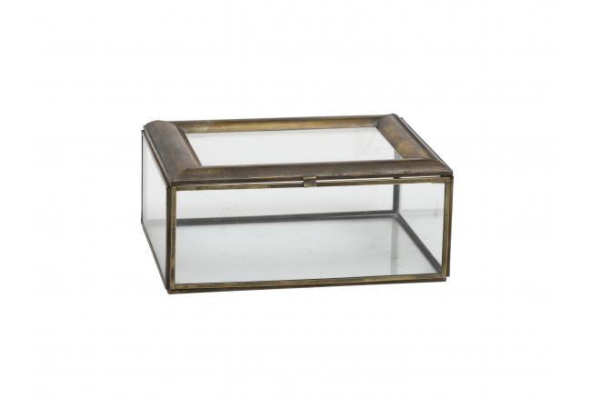 Glazen doos PALOMA - Staal/gla