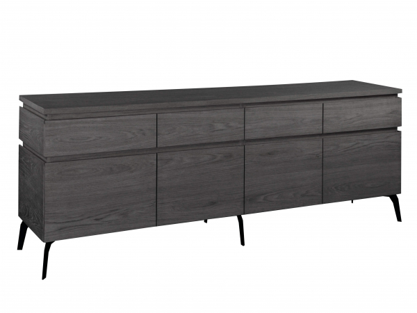 Kast Dressoir Kos Ebonized Oak Zwart