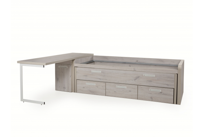 Bureau met bed en lades MTS