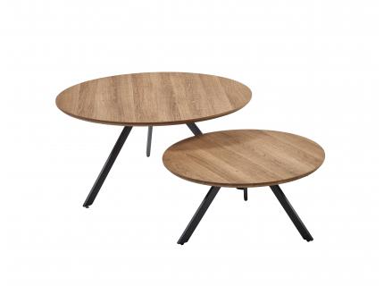 Set van 2 salontafels - Eik lo