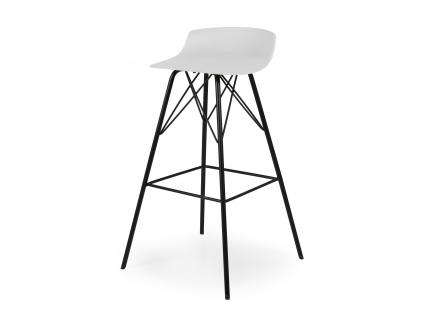 Barstoel TORI - Wit/zwart
