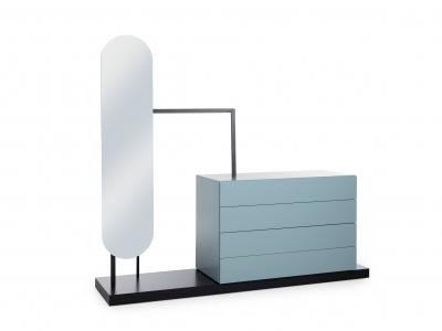 Commode met spiegel en hangrek
