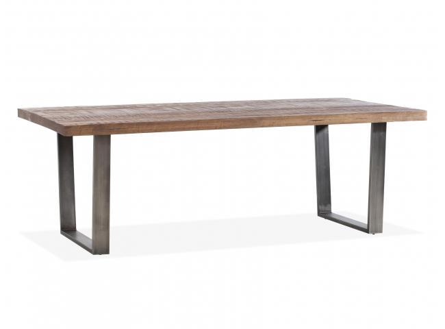 Tafel PLAYER - Mangohout/ijzer