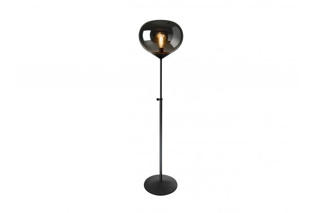 Vloerlamp DROP - Zwart, smoke