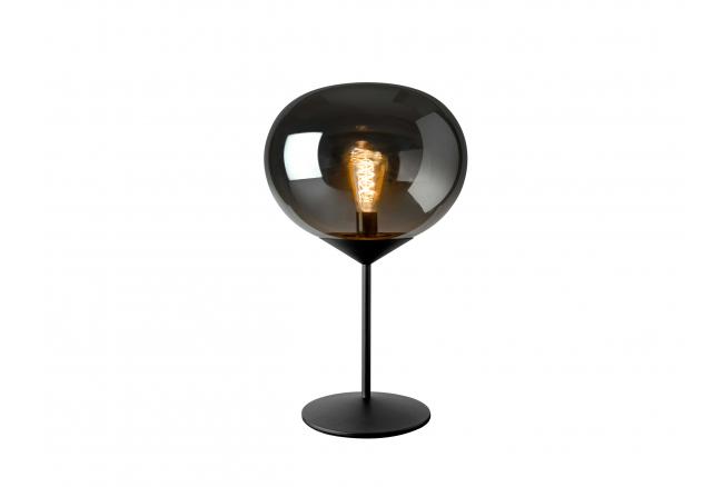 Tafellamp DROP - Zwart, smoke