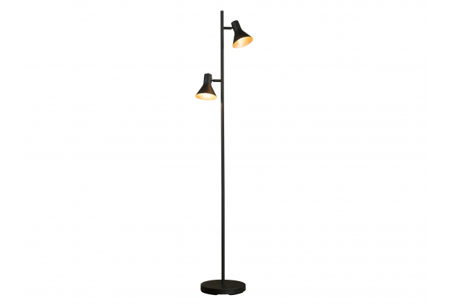 Vloerlamp 8187 - Zwart/goud