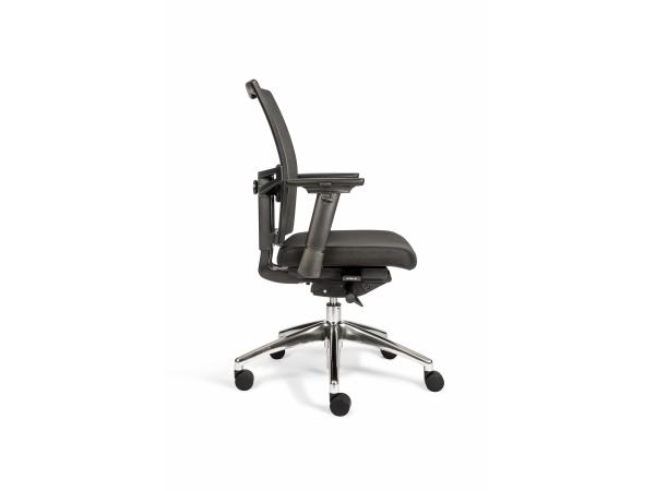 Bureaustoel Zwart Design.Bureaustoel 706 Zwart Zwart Deba Meubelen