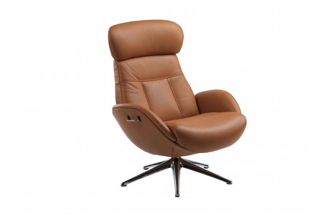 Ease Elegant relaxfauteuil, Cognac Brown