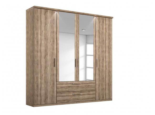 Draaideurkast 4 deuren + 2 lad