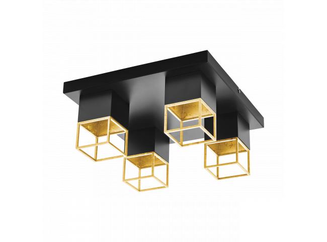 Plafondlamp 4xGU10/5W LED, ene