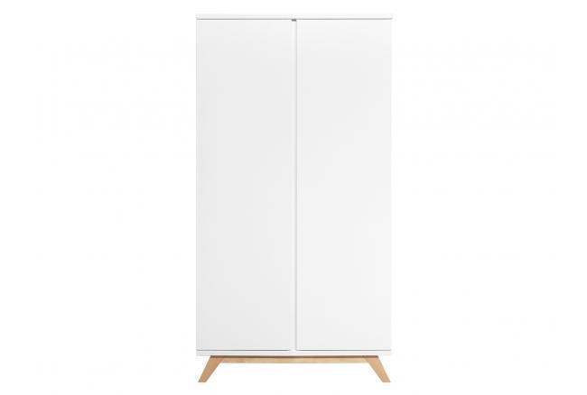Kleerkast 2 deuren LYNN - Wit/
