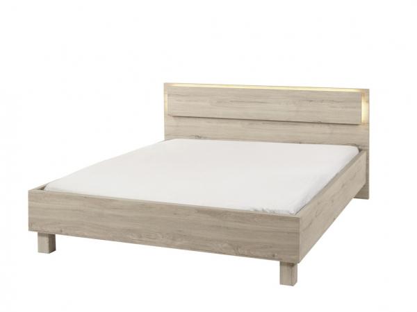 Bed 180x200 Hout.Bed 140x200 Cardiff Millenium Oak Light Grey Hout Deba Meubelen