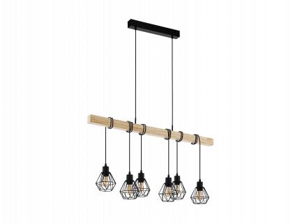 Hanglamp TOWNSHEND 5 - Zwart/h