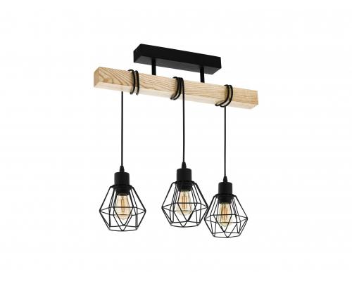 Hanglamp TOWNSHEND - Zwart/hou