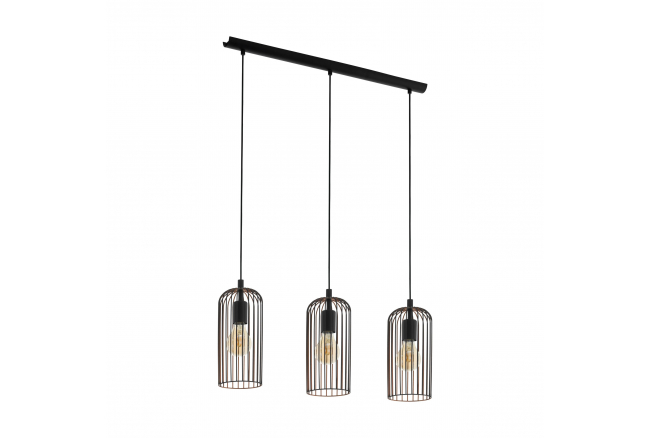 Hanglamp ROCCAMENA - Zwart/kop