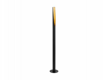 Vloerlamp BARBOTTO - Zwart/gou