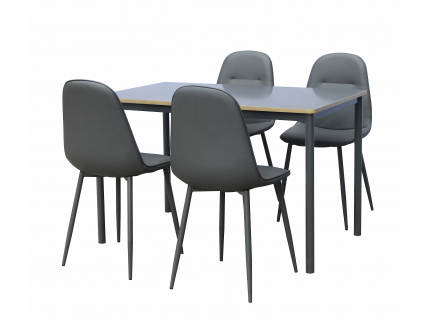 Set tafel met 4 stoelen TOULOU