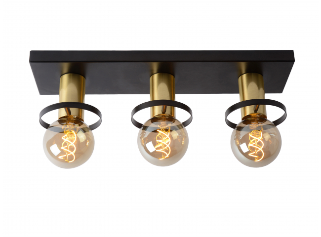 Plafondlamp ANAKA - Zwart/mat