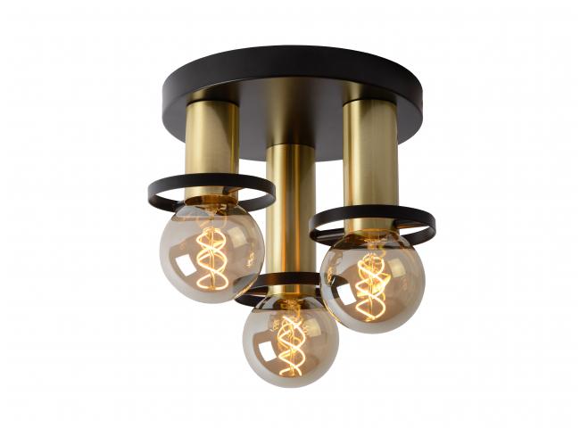 Plafondlamp rond ANAKA - Zwart