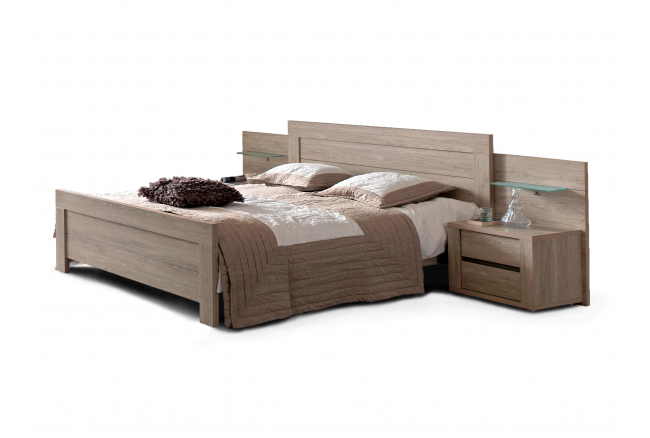 Bed 160 cm 'Rocca' - kleur: Wood