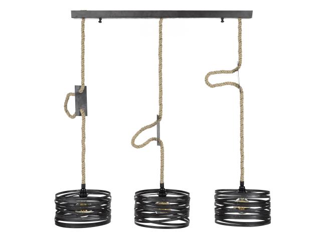 Hanglamp TWIST - Metaal/touw