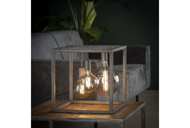 Tafellamp KUBUS XL - Oud zilve
