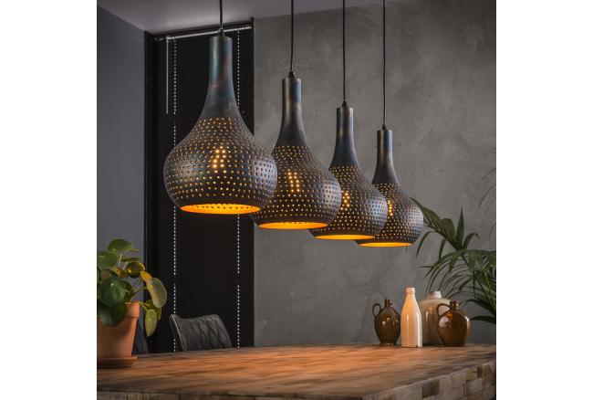 Hanglamp PUNCH - Zwart/bruin