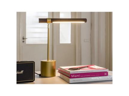 Tafellamp SEBASTIAN - Hout/gou