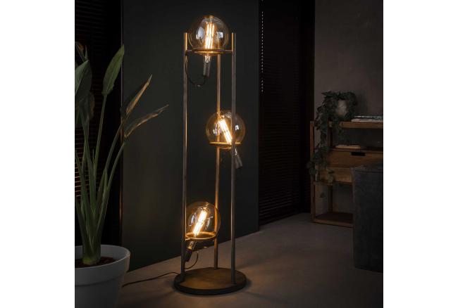 Vloerlamp SATURN - Oud zilver