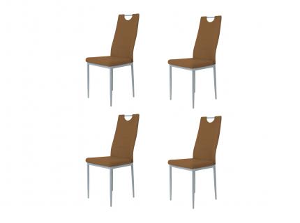 Set 4 Stoelen KIM - Zwart