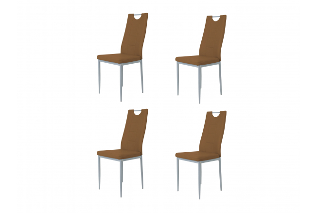 Set 4 Stoelen KIM - Cappucino
