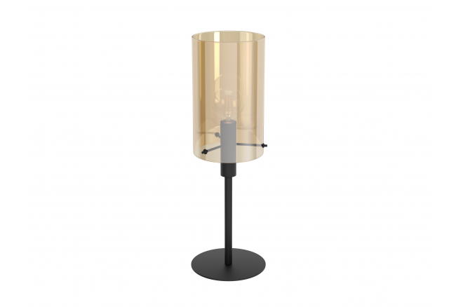 Tafellamp POLVERARA - Amber/zw
