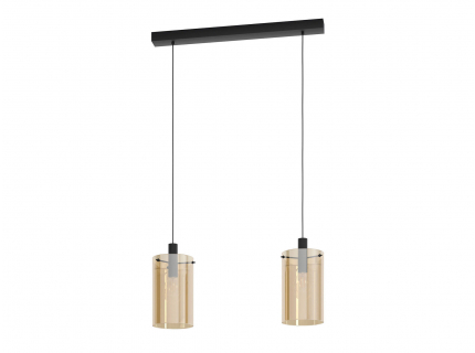 Hanglamp POLVERARA - Amber/zwa
