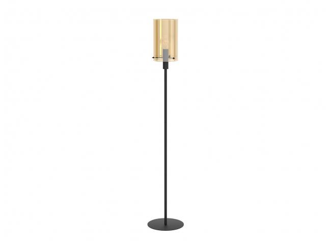 Vloerlamp POLVERARA - Amber/zw