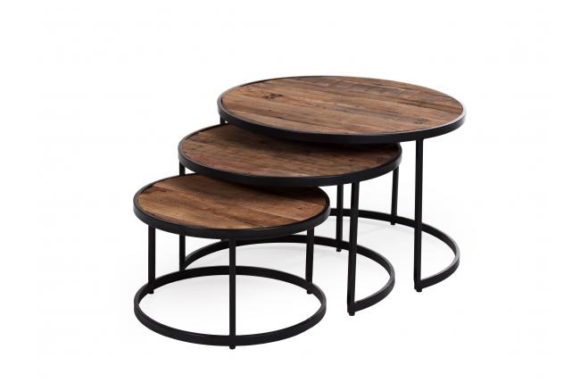 Set van 3 salontafels LENNOX -