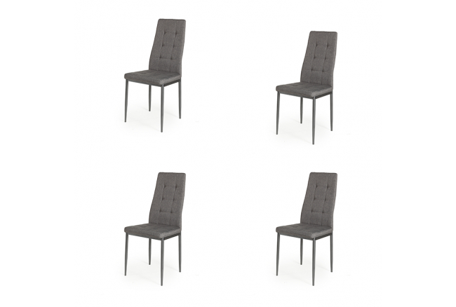 Set 4 Stoelen LUCKY - Antracie