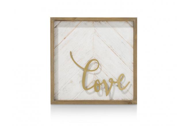 Wanddecoratie LOVE - Goud