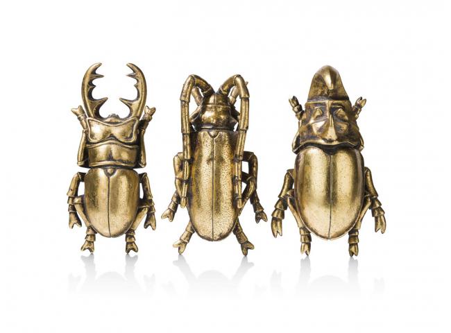 Decoratie insecten, set van 3