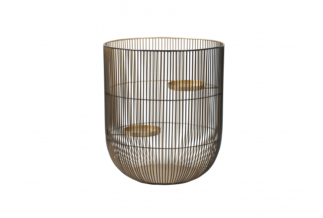 Windlicht CAGED LIGHT L - Blac