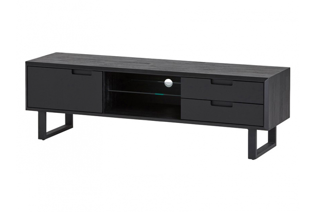 Tv-kast LEONARDO - Zwart Acaci