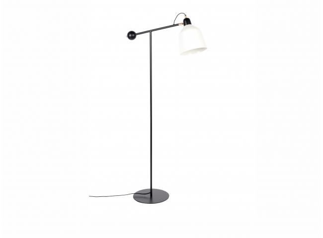 Vloerlamp SKALA - Zwart/Wit