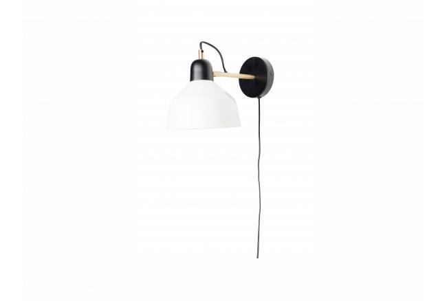 Muurlamp SKALA - Zwart/Wit