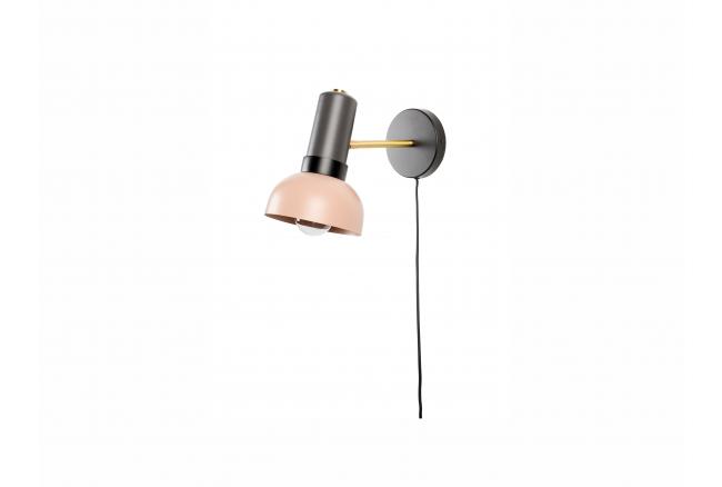 Muurlamp CHARLIE - Grijs/Zalm
