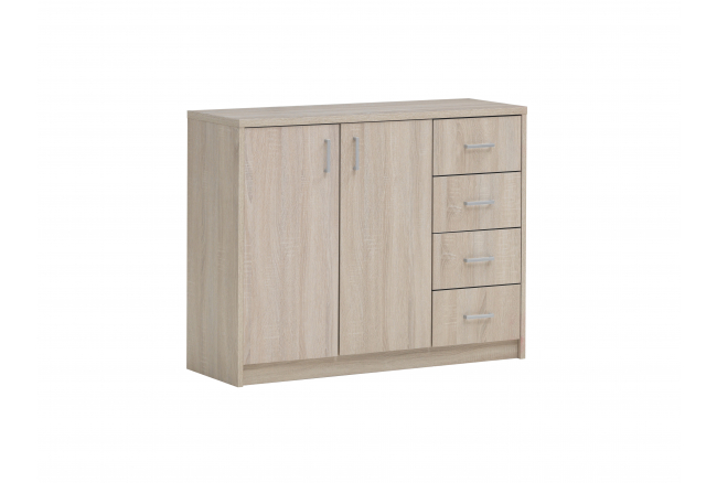 Commode SPACIO - Grijze eikloo